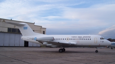 Photo ID 10006 by Martin Kubo. Argentina Air Force Fokker F 28 1000 Fellowship, T 50