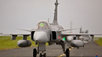 Photo ID 79960 by Alan Worsley. Sweden Air Force Saab JAS 39C Gripen, 39214