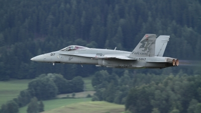 Photo ID 80071 by Lothar Wolf. Switzerland Air Force McDonnell Douglas F A 18C Hornet, J 5017