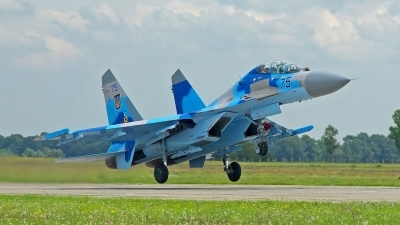 Photo ID 80293 by Medvedenko Oleg. Ukraine Air Force Sukhoi Su 27UB, 75 BLUE