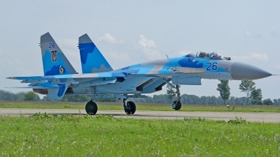 Photo ID 80999 by Medvedenko Oleg. Ukraine Air Force Sukhoi Su 27, 26 BLUE