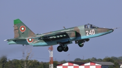 Photo ID 81847 by Peter Terlouw. Bulgaria Air Force Sukhoi Su 25K, 240