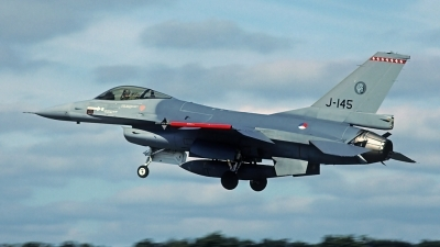 Photo ID 82599 by Carl Brent. Netherlands Air Force General Dynamics F 16A Fighting Falcon, J 145