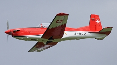 Photo ID 82777 by Andreas Weber. Switzerland Air Force Pilatus NCPC 7 Turbo Trainer, A 922