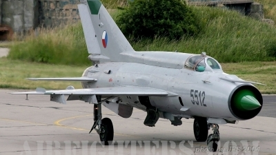 Photo ID 10634 by Jiri Sofilkanic. Czech Republic Air Force Mikoyan Gurevich MiG 21MF, 5512