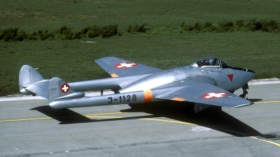 Photo ID 84273 by Joop de Groot. Switzerland Air Force De Havilland DH 100 Vampire FB 6, J 1128