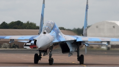 Photo ID 84837 by Niels Roman / VORTEX-images. Ukraine Air Force Sukhoi Su 27UB, 75 BLUE