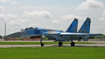 Photo ID 85441 by Antoha. Ukraine Air Force Sukhoi Su 27, 26 BLUE