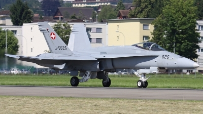 Photo ID 84937 by Andreas Weber. Switzerland Air Force McDonnell Douglas F A 18C Hornet, J 5026
