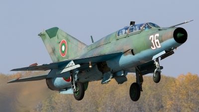 Photo ID 85834 by Anton Balakchiev. Bulgaria Air Force Mikoyan Gurevich MiG 21UM, 36