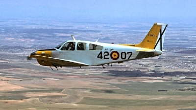 Photo ID 86277 by Carl Brent. Spain Air Force Beech E 24A Bonanza F33C, E 24A 07