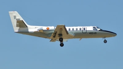 Photo ID 86647 by Alfonso S.. Spain Air Force Cessna Citation V 560, TR 20 03