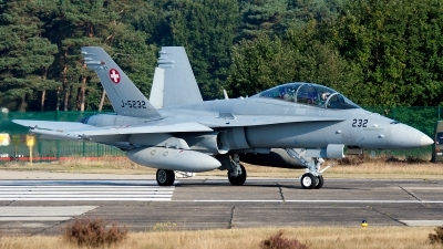 Photo ID 86740 by Jan Eenling. Switzerland Air Force McDonnell Douglas F A 18D Hornet, J 5232