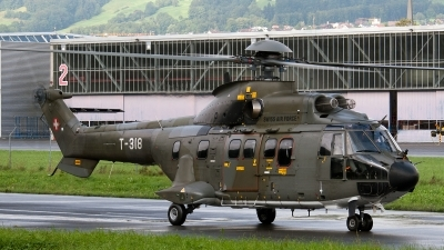Photo ID 87729 by Jan Eenling. Switzerland Air Force Aerospatiale AS 332M1 Super Puma, T 318