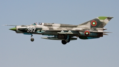 Photo ID 87926 by Alex van Noye. Bulgaria Air Force Mikoyan Gurevich MiG 21bis SAU, 392