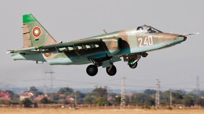 Photo ID 88327 by Alex van Noye. Bulgaria Air Force Sukhoi Su 25K, 240