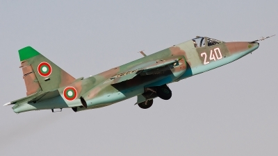 Photo ID 87925 by Alex van Noye. Bulgaria Air Force Sukhoi Su 25K, 240