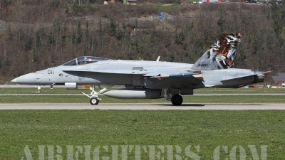 Photo ID 1155 by Andrew Chaplin. Switzerland Air Force McDonnell Douglas F A 18C Hornet, J 5011