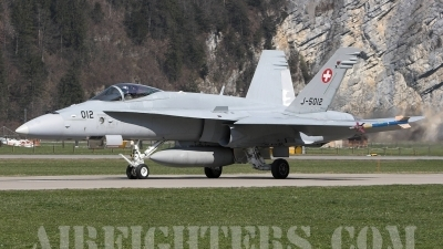 Photo ID 1156 by Andrew Chaplin. Switzerland Air Force McDonnell Douglas F A 18C Hornet, J 5012