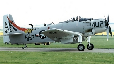 Photo ID 11881 by Tim Felce. Private Private Douglas A 1D Skyraider AD 4NA, G RADR