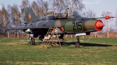 Photo ID 93521 by Stephan Sarich. East Germany Air Force Mikoyan Gurevich MiG 21US, 215