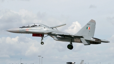 Photo ID 95348 by PAUL CALLAGHAN. India Air Force Sukhoi Su 30MKI Flanker, SB107