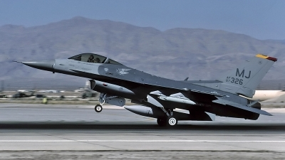Photo ID 95436 by David F. Brown. USA Air Force General Dynamics F 16C Fighting Falcon, 87 0326