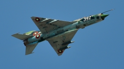 Photo ID 95850 by Radim Spalek. Bulgaria Air Force Mikoyan Gurevich MiG 21bis, 392