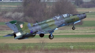 Photo ID 95664 by Chris Lofting. Croatia Air Force Mikoyan Gurevich MiG 21UM, 166