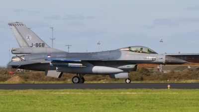 Photo ID 96205 by Sander Meijering. Netherlands Air Force General Dynamics F 16AM Fighting Falcon, J 868