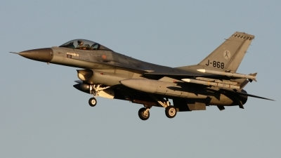Photo ID 96667 by Rob Hendriks. Netherlands Air Force General Dynamics F 16AM Fighting Falcon, J 868