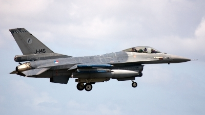 Photo ID 96935 by Jan Eenling. Netherlands Air Force General Dynamics F 16AM Fighting Falcon, J 145