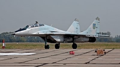 Photo ID 97418 by Carl Brent. Ukraine Air Force Mikoyan Gurevich MiG 29UB 9 51, 91 WHITE