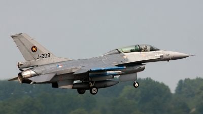 Photo ID 97704 by Jan Eenling. Netherlands Air Force General Dynamics F 16BM Fighting Falcon, J 208