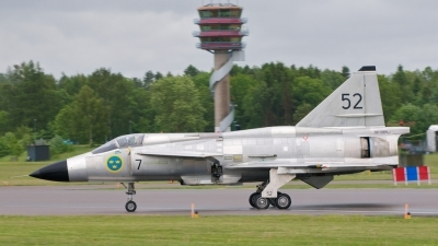 Photo ID 100486 by Stuart Skelton. Sweden Air Force Saab AJS 37 Viggen, SE DXN