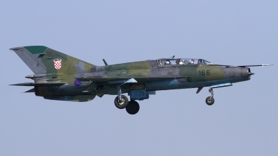 Photo ID 101232 by Chris Lofting. Croatia Air Force Mikoyan Gurevich MiG 21UM, 166