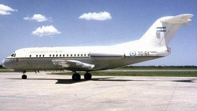 Photo ID 101739 by Carlos Ay. Argentina Air Force Fokker F 28 1000C Fellowship, TC 51