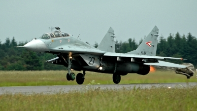 Photo ID 13087 by Kurt Saxkjær. Hungary Air Force Mikoyan Gurevich MiG 29UB 9 51, 27