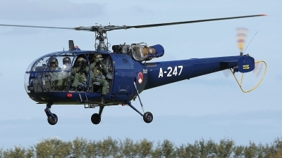 Photo ID 102409 by Mario Boeren. Netherlands Air Force Aerospatiale SA 316B Alouette III, A 247