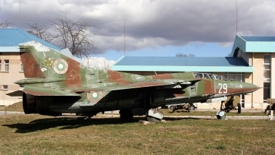 Photo ID 102651 by Kostas D. Pantios. Bulgaria Air Force Mikoyan Gurevich MiG 23UB, 29