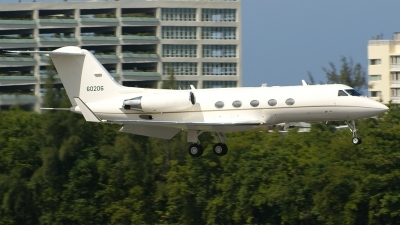 Photo ID 13230 by Hector Rivera - Puerto Rico Spotter. USA Air Force Gulfstream Aerospace C 20B Gulfstream III, 86 0206