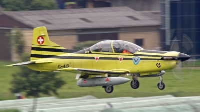 Photo ID 102888 by Sven Zimmermann. Switzerland Air Force Pilatus PC 9A, C 412