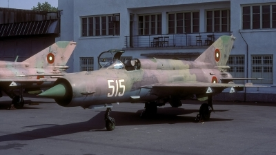 Photo ID 13427 by Chris Lofting. Bulgaria Air Force Mikoyan Gurevich MiG 21 LASUR, 515