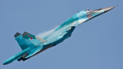 Photo ID 104313 by Jan Suchanek. Russia Air Force Sukhoi Su 34 Fullback, 03 RED