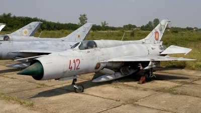 Photo ID 13436 by Chris Lofting. Romania Air Force Mikoyan Gurevich MiG 21PF, 412
