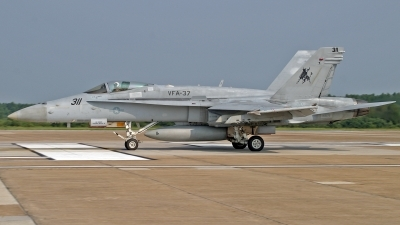 Photo ID 104539 by David F. Brown. USA Navy McDonnell Douglas F A 18C Hornet, 165175