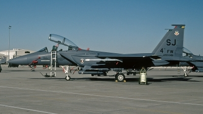 Photo ID 104559 by David F. Brown. USA Air Force McDonnell Douglas F 15E Strike Eagle, 89 0496