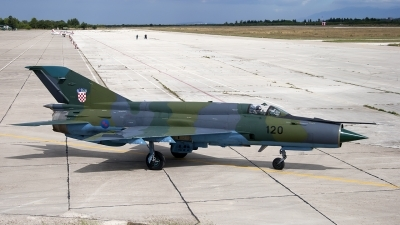 Photo ID 13507 by Chris Lofting. Croatia Air Force Mikoyan Gurevich MiG 21bisD, 120