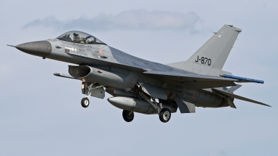 Photo ID 105182 by Niels Roman / VORTEX-images. Netherlands Air Force General Dynamics F 16AM Fighting Falcon, J 870