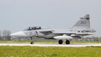 Photo ID 105772 by patrick harbers. Sweden Air Force Saab JAS 39C Gripen, 39263